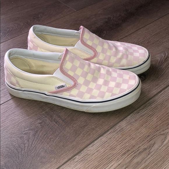 Vans Shoes   Pink Checkered Vans Size
